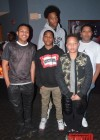 T.I.'s sons Messiah & Domani Harris with friends at Messiahs' 14th birthday bowling party