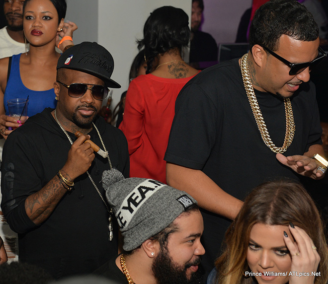 khloe kardashian amp french montana partying at compound