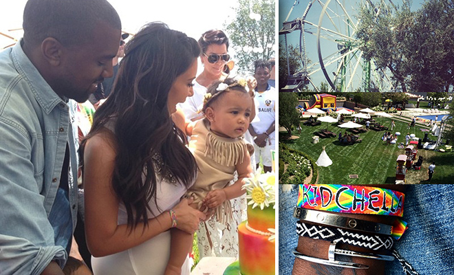 Kim Amp Kanye Threw Quot Kidchella Quot Party For Baby North S First