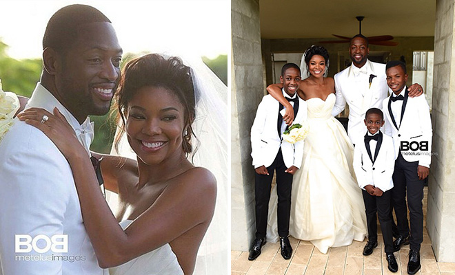 Dwyane wade gabrielle union get married in 5 million wedding junglespirit Gallery
