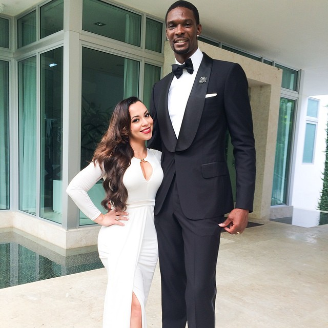 Chris adrienne bosh at dwyane wade gabrielle unions wedding junglespirit Choice Image