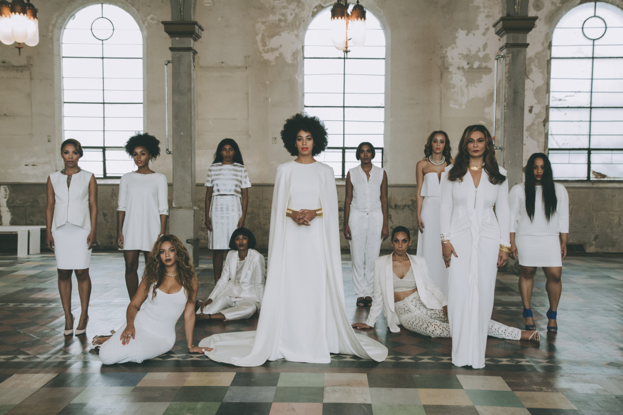 Solange and her bridal party, featuring Beyoncé, Mama Tina Knowles and Angela Beyince