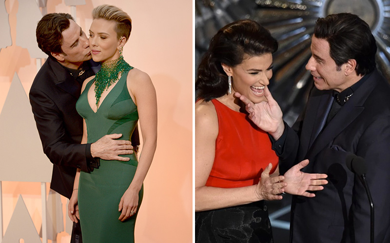 Why Was John Travolta Being So Weird with Women at the ...