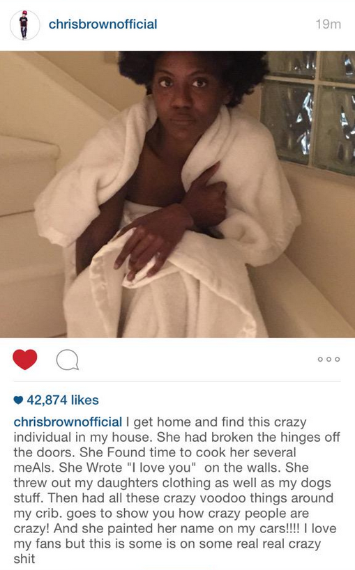Women broke in chris brown house pictures