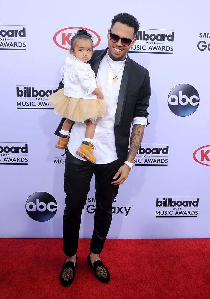 Chris Brown & Daughter Royalty on the 2015 Billboard Music ...