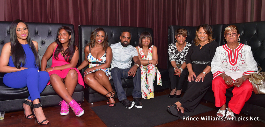 "The Cast of ""Kandi's Ski Trip"" at their viewing party in Atlanta"