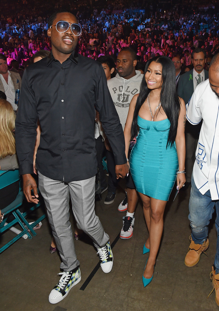 Meek Mill & Nicki Minaj at the Floyd Mayweather vs. Manny Pacquiao Fight in Las Vegas