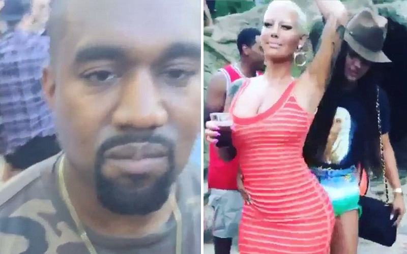 kanye west left drake s pool party because amber rose