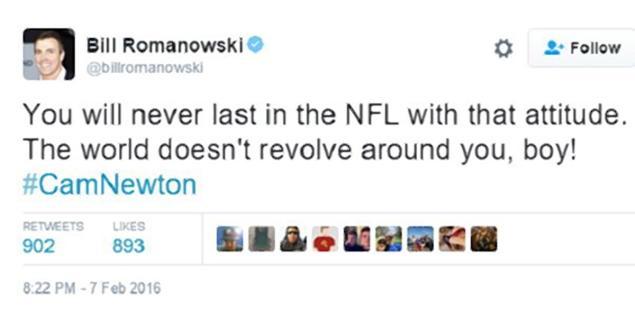 bill-romanowski-racist-tweet