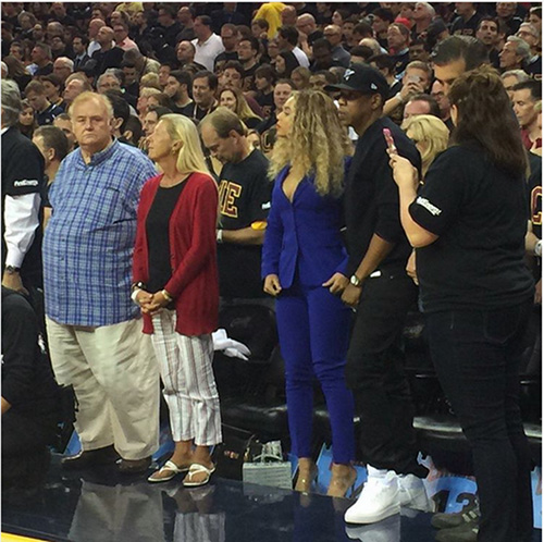 Beyoncé & Jay Z courtside at Game 6 of the 2016 NBA Finals ...