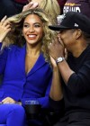 Beyoncé & Jay Z courtside at Game 6 of the 2016 NBA Finals in Cleveland (Golden State vs. Cavaliers)