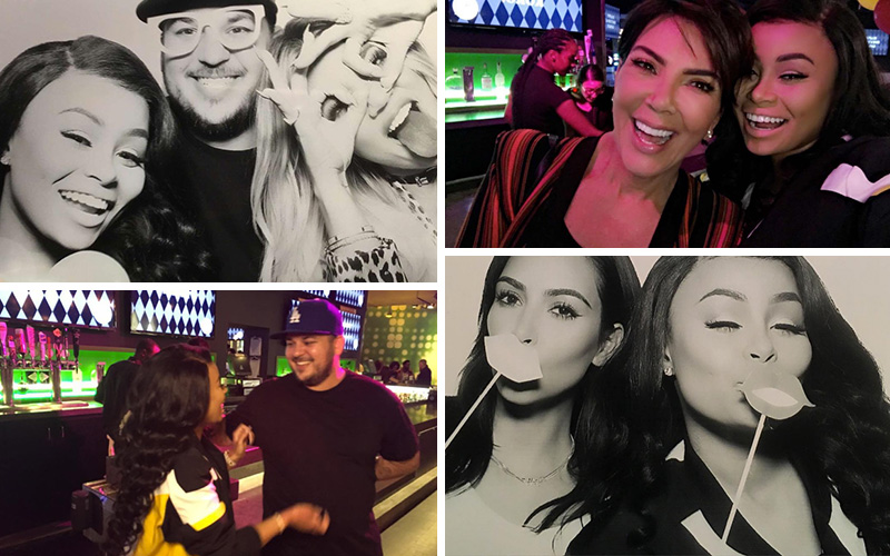 Blac Chyna Partied With the Kardashians (Inluding Kim & Kylie) for Khloe's Birthday at Dave & Buster's