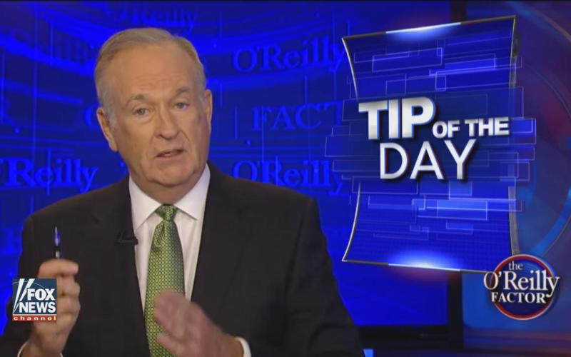 """Bill O'Reilly Claims Slaves Who Built White House Were """"Well-Fed"""" and Provided """"Decent Lodgings"""""""