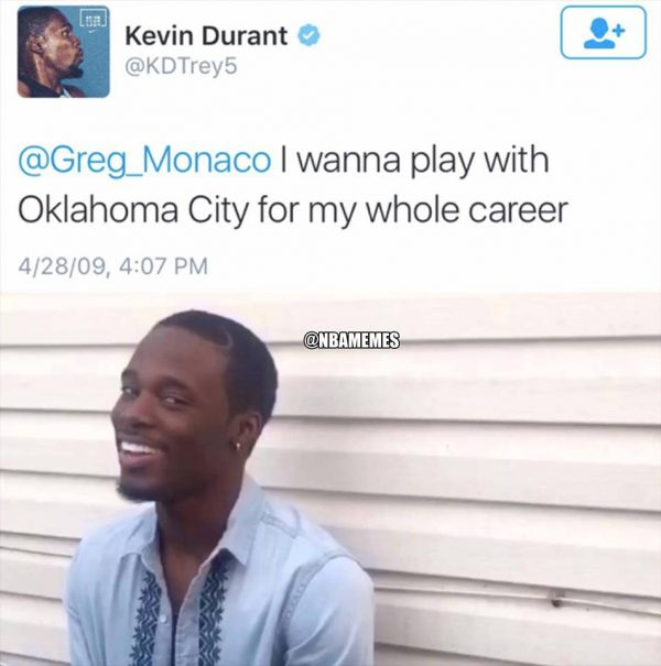 Warriors Come Out And Play Song: Kevin Durant Memes: Hilarious Reactions To Him Leaving OKC