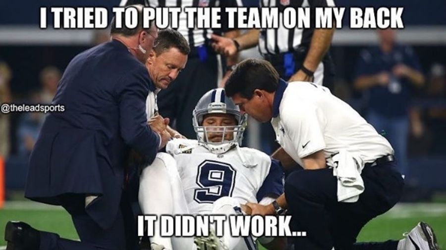 1472486007 romo9 tony romo back injury memes the best of the internet's roast of,Tony Romo Memes