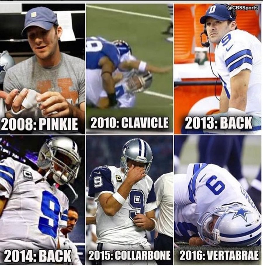 1472486017 romo8 tony romo back injury memes the best of the internet's roast of,Tony Romo Memes