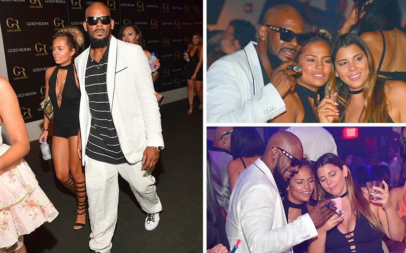 R Kelly And His Rumored 20 Year Old Girlfriend Halle Calhoun Spotted Clubbing In Atlanta