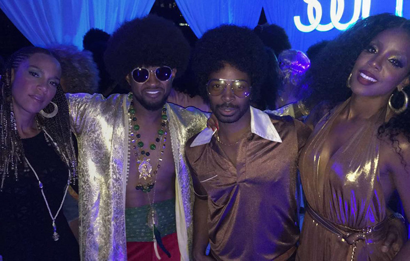 Usher, Kelly Rowland at Beyoncé's Soul Train Themed 35th Birthday Party