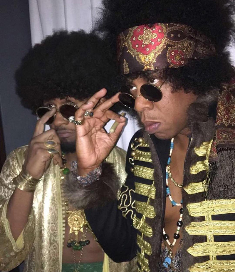 Usher and Jay Z at Beyoncé's Soul Train Themed 35th Birthday Party