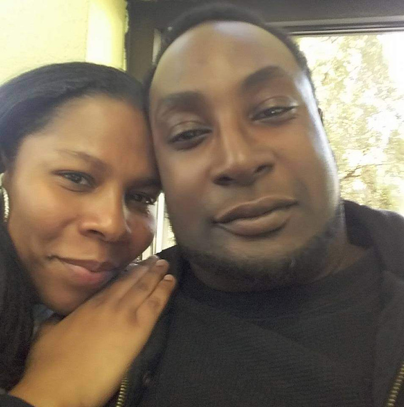 Keith Lamont Scott pictured here with his wife Rakeyia Scott.