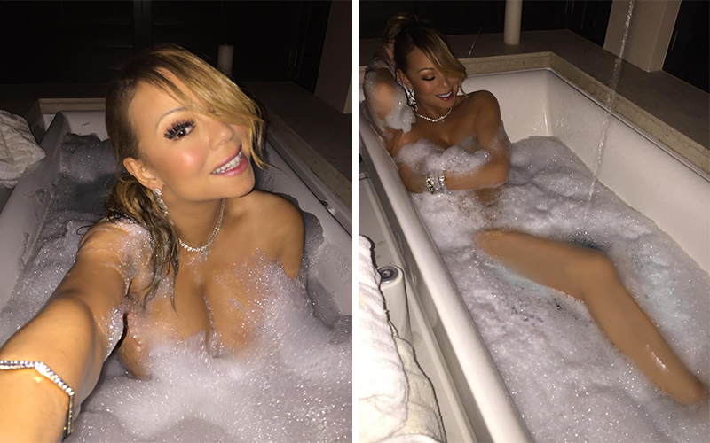 mariah carey seeks attention with desperate bubble bath