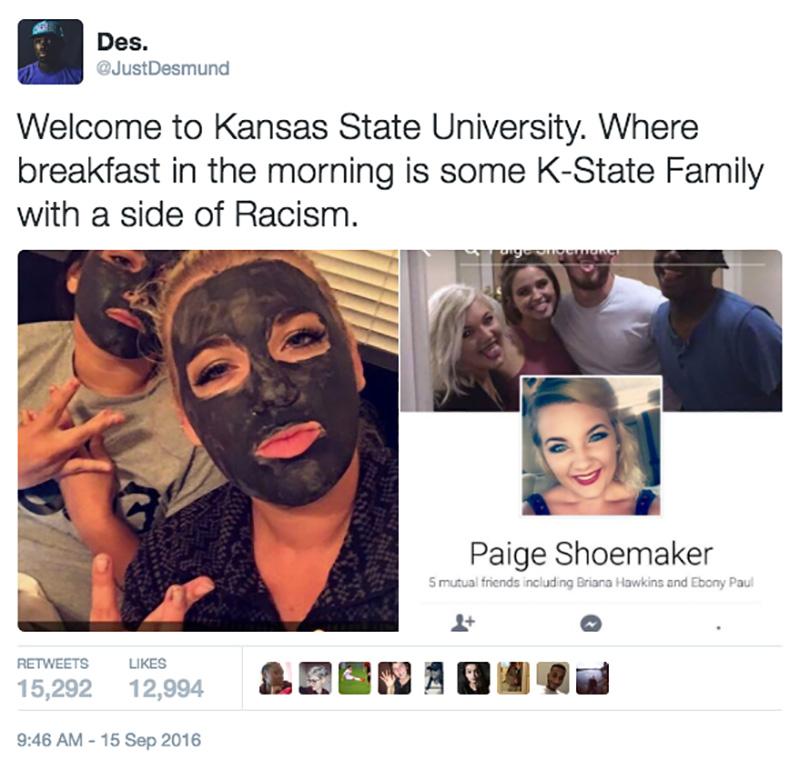 paige-shoemaker-racist-blackface-snapchat-photo-tweet-screenshot