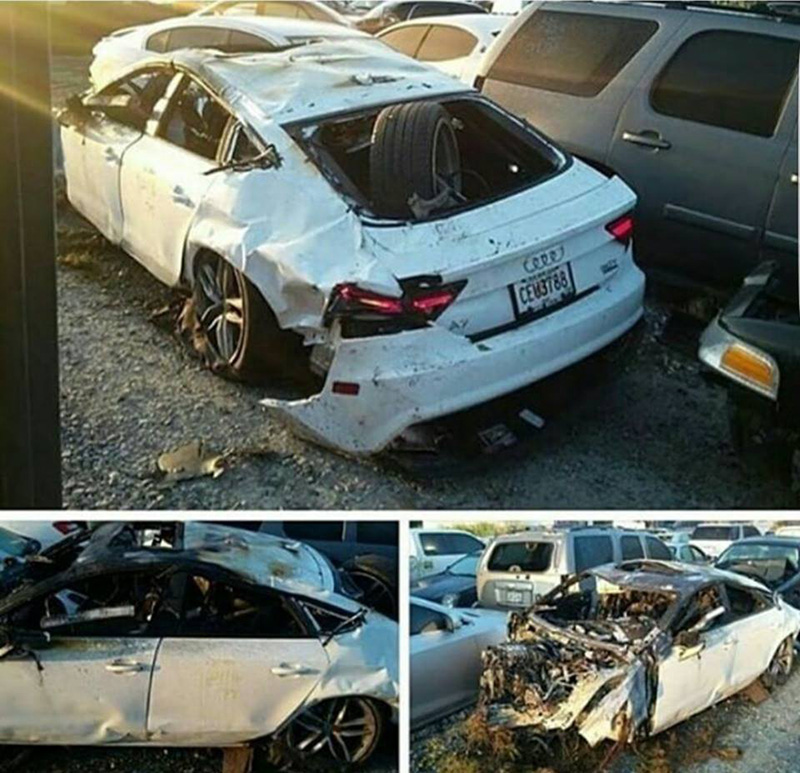 Shocking Photos Show Shawty Lo's Mangled Car After Fatal Crash in