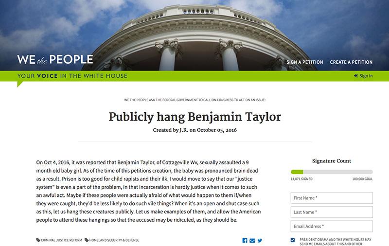 benjamin-taylor-petition-screenshot
