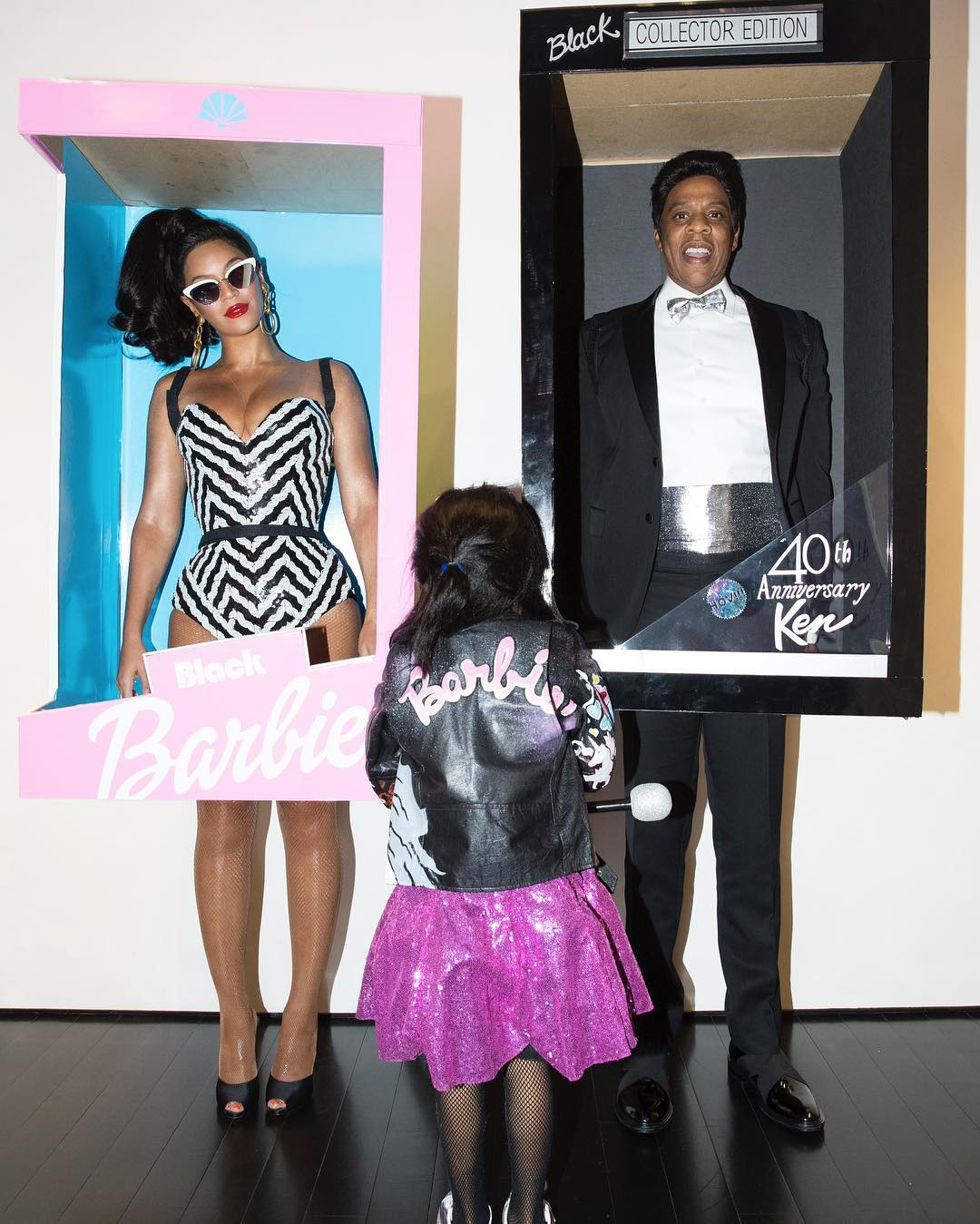 Beyoncé, Jay Z and Blue Ivy as Black Barbie and Ken dolls for Halloween (2016)