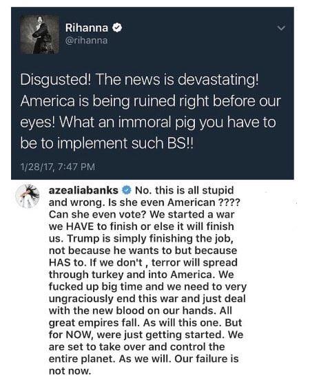 Azealia-Banks-Rihanna- Instagram