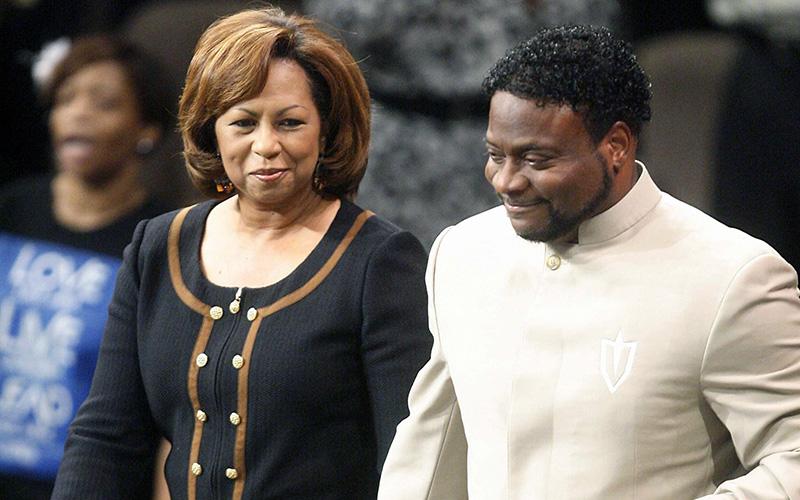 Bishop Eddie Long and his wife Vanessa in September 2010.