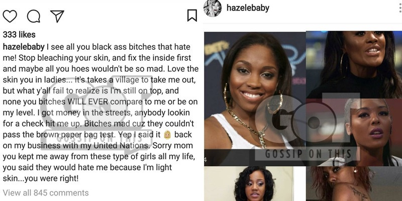 Hazel-E Goes on Homophobic IG Rant: Burn In Hell Like God