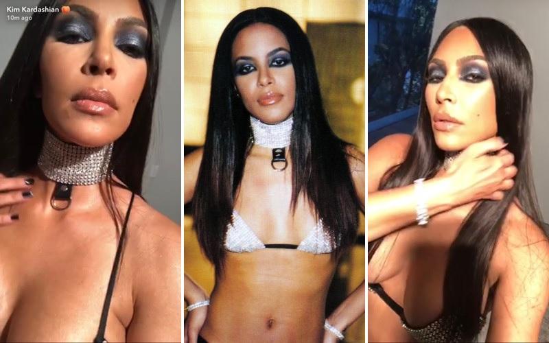 Kim Kardashian Dressed as Aaliyah for Halloween and Black Twitter ...