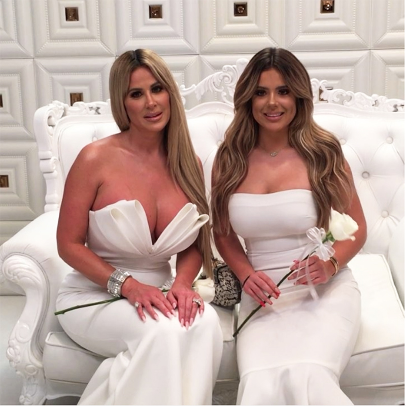 Kim Zolciak Biermann And Her Daughter Brielle At Gucci Mane Keyshia Kaoirs Wedding