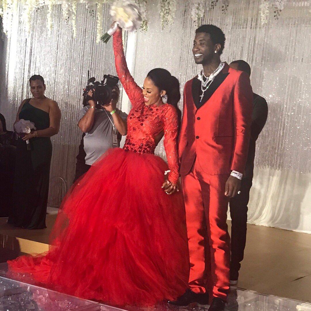 Gucci Mane & Keyshia Ka'oir Wore Matching Red Outfits at ...