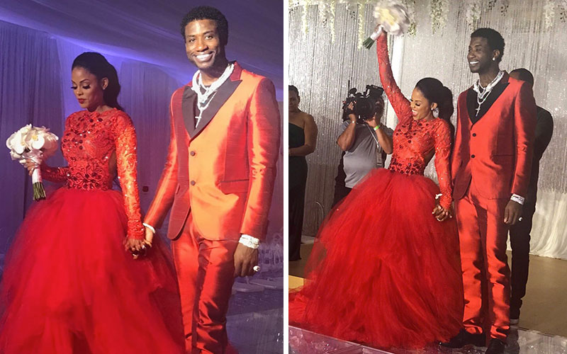 Gucci Mane Amp Keyshia Ka Oir Wear All Red At Wedding