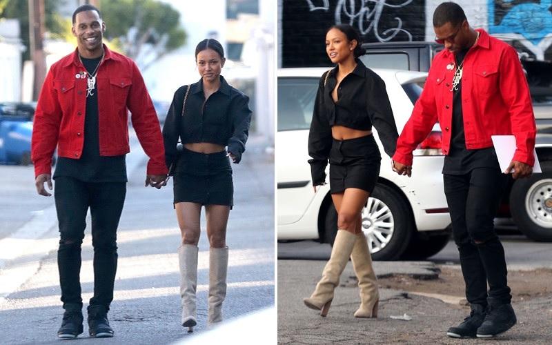 8bc5a0fd New Couple Alert: Karrueche Tran & Victor Cruz Spotted Holding Hands ...