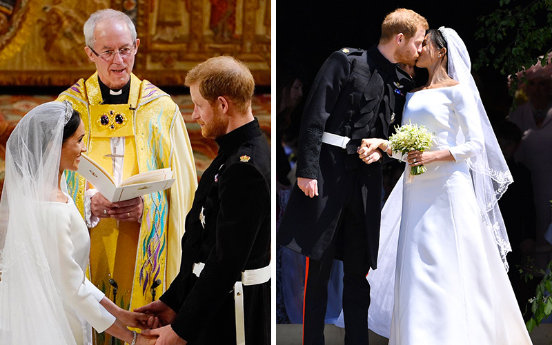 Royal Wedding Harry And Meghan.Royal Wedding 2018 Prince Harry Meghan Markle Marry In Black As