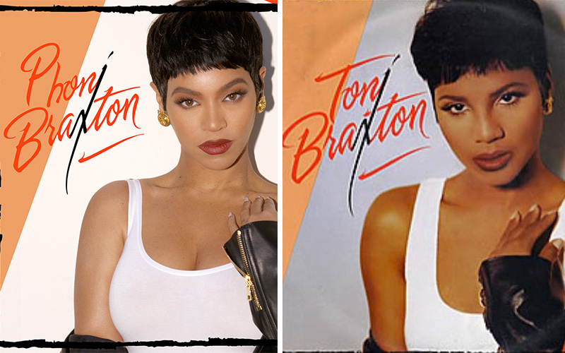 beyonc233 dressed up as �phoni braxton� for halloween and