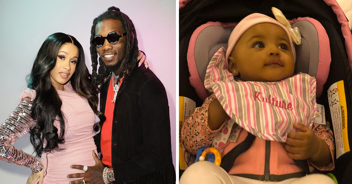 Offset Gets Daughter Kulture Kiari S Name Tattooed On His: Cardi B Shares First Photo Of Daughter Kulture Kiari After