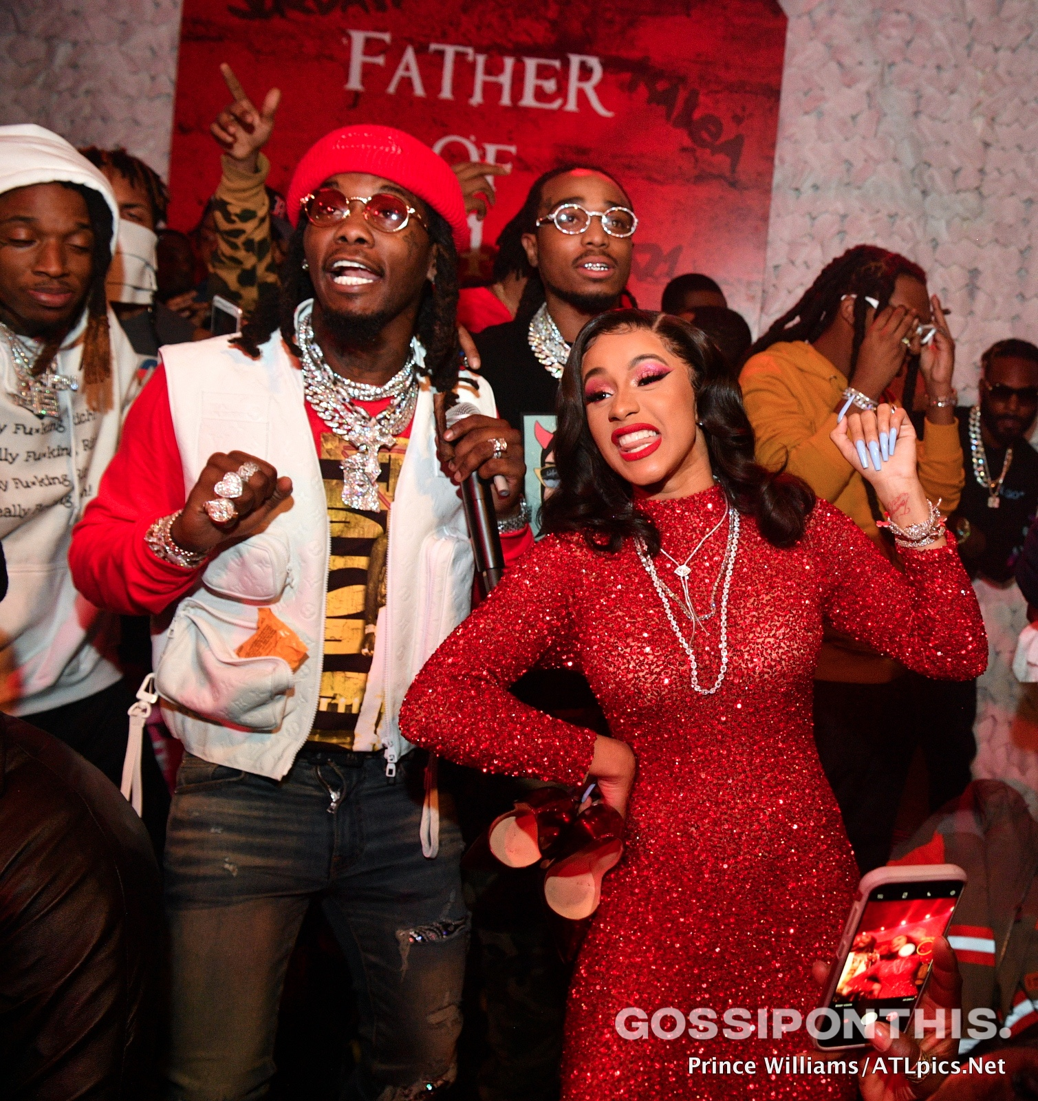 """Cardi B Supports Her Husband Offset At His """"Father Of 4"""