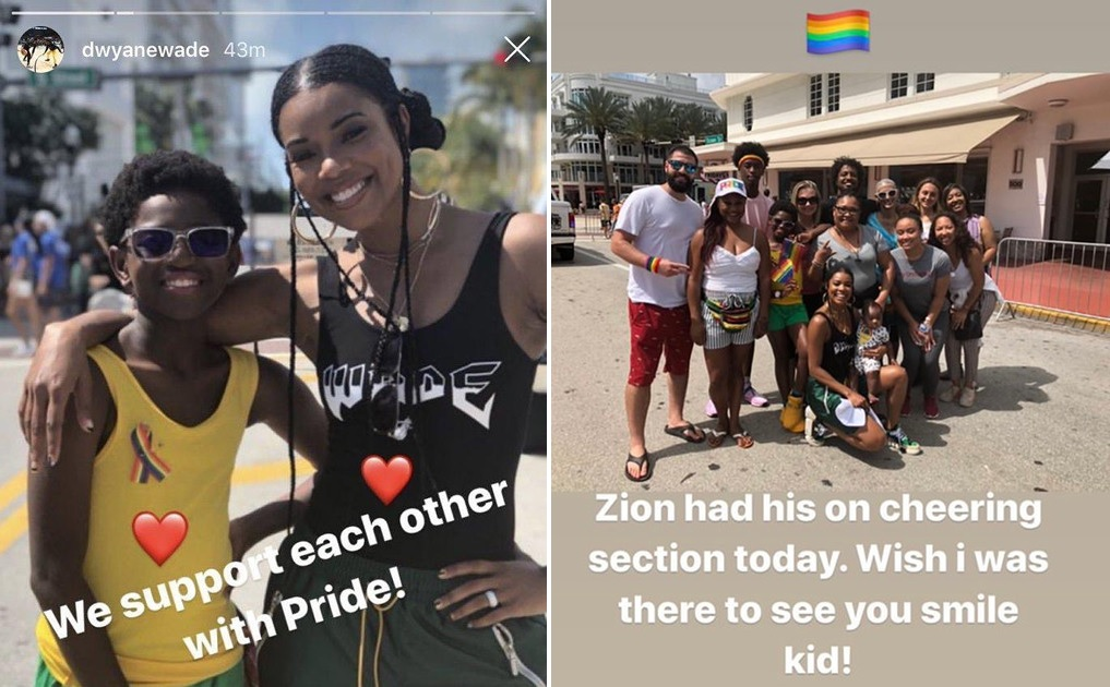 Dwyane Wade's 11-Year-Old Son Zion Surrounded by Love
