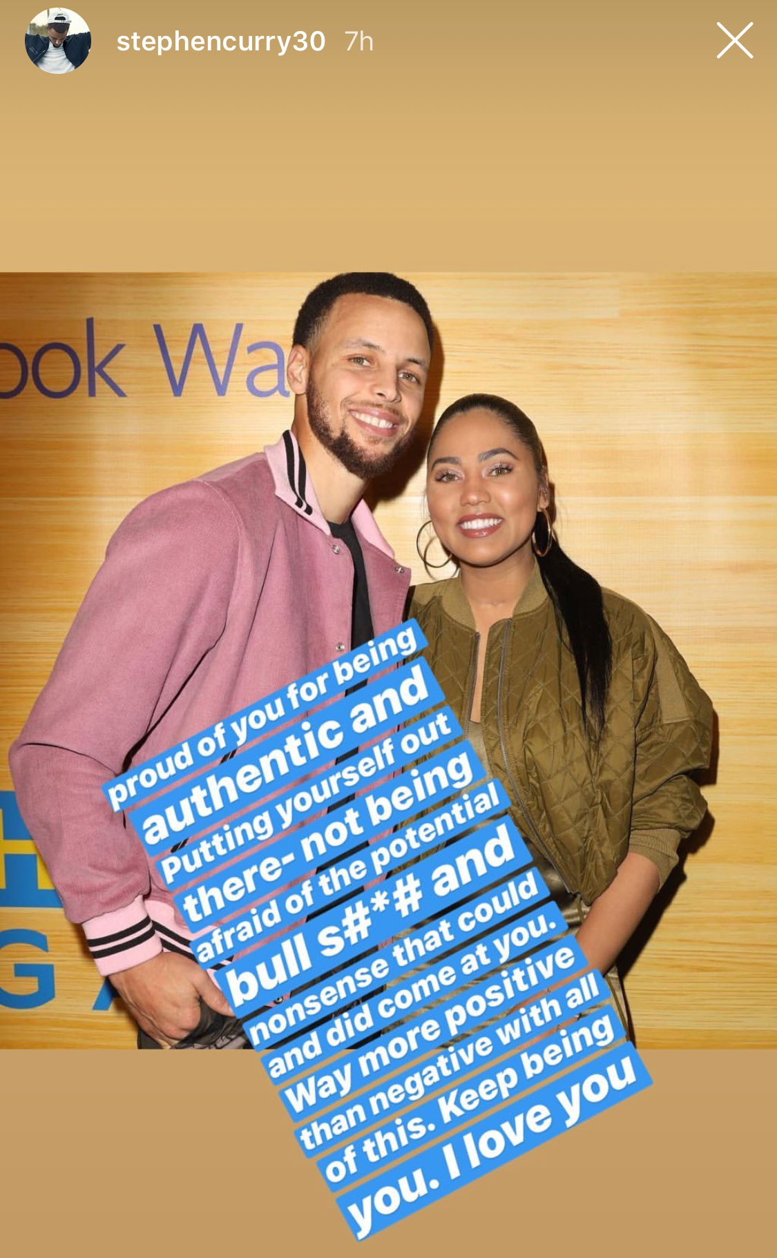 steph curry supports his wife ayesha after backlash for
