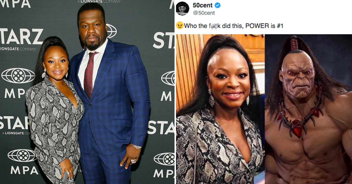 Image result for images of 50 Cent slammed for trolling Power co-star Naturi Naughton again