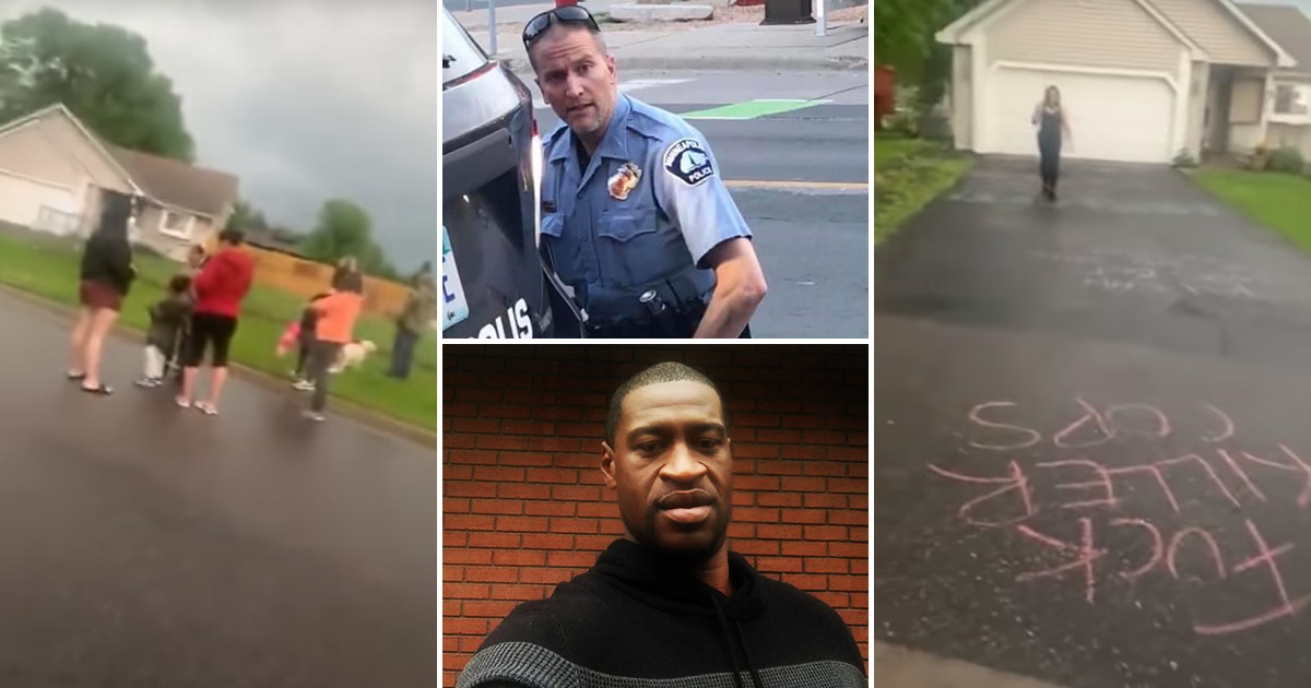 Protesters Surround Home Of Former Minneapolis Cop Derek Chauvin After George Floyd S Death Video